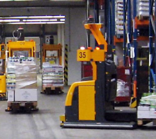 AGV automated guided vehicle Marktkauf 2007