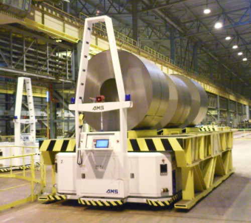 AGV automated guided vehicle Posco Steel 2009