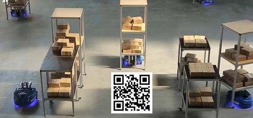 Smart warehouse barcode navigation